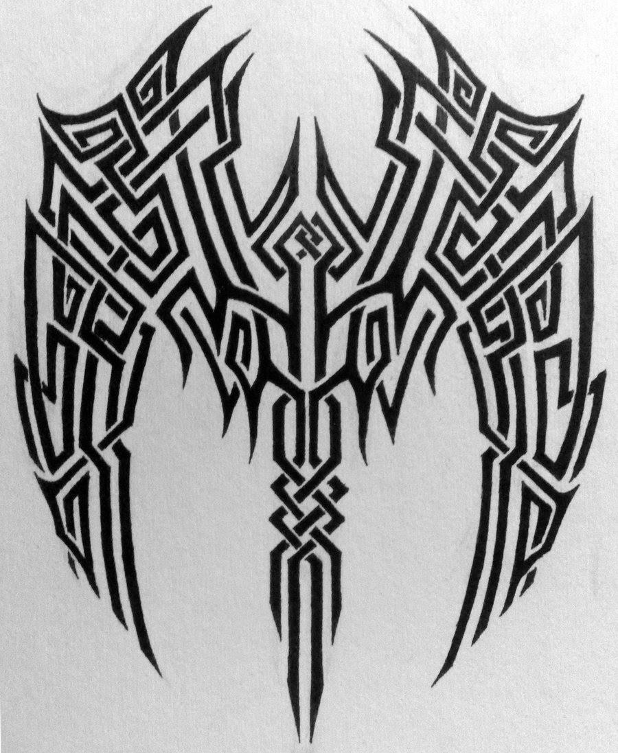 Amazing Tribal Wings Tattoo Design