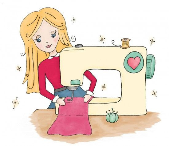 Home sewing clipart - Clipground
