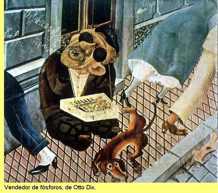 Otto Dix, 'Vendedor de fósforos'.