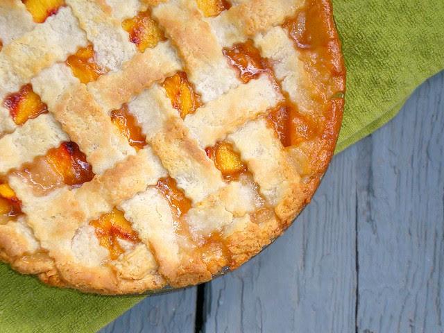 Lattice-top Peach Pie