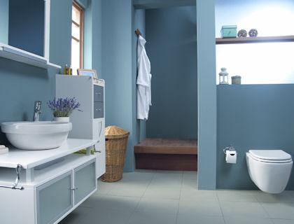67 Cool Blue Bathroom Design Ideas - DigsDigs