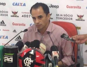 Rodrigo Caetano entrevista flamengo (Foto: Felippe Costa / GloboEsporte.com)