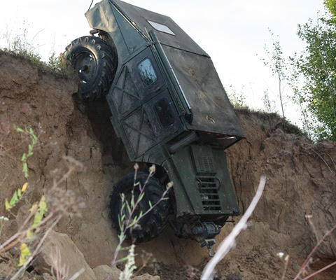 Russian self-made Hummer 2