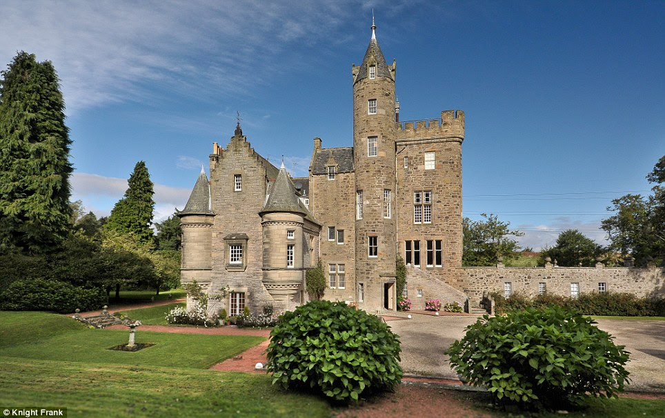Famous: The 18th century Bonaly Tower was the venue for frequent meetings of the 'Friday Club', a group of leading Edinburgh literati, hosted by owner Lord Cockburn