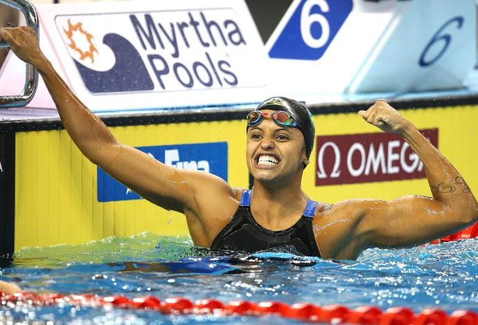Etiene Medeiros, Mundial de Natação Doha (Foto: Satiro Sodré / SSpress)
