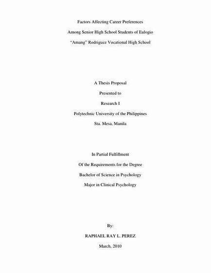 Thesis Topics List For High School - School Style