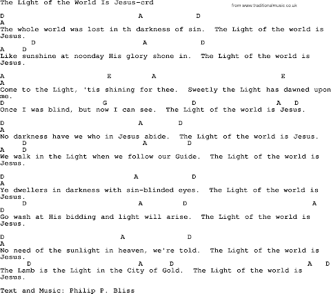 We Are The Light Of The World Lyrics And Chords
