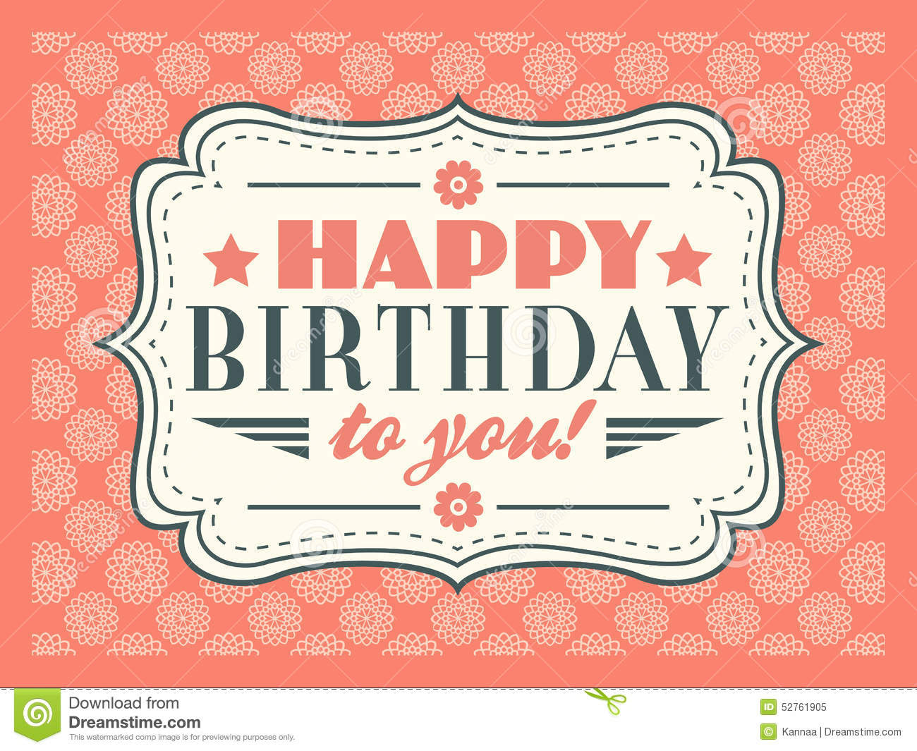 Happy Birthday Card. Typography Letters Font Type Stock Vector ...