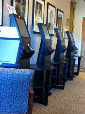 Kiosks in doctor's office photo