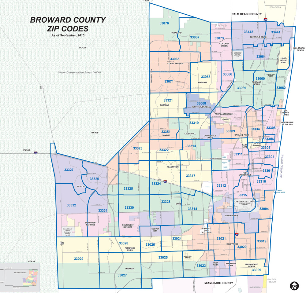 Zip Code Map Of Broward County | World Map