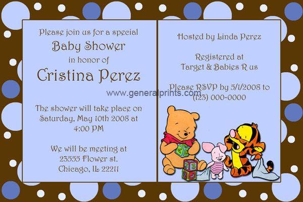 22 Invitaciones Baby Shower Winnie Pooh
