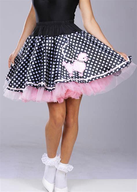Ladies 50s Polka Dot Poodle Skirt [AC393 DISC]   Struts