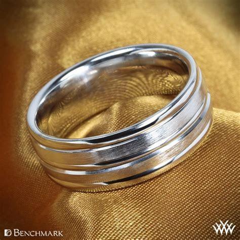Chorded Satin Wedding Ring by Benchmark   Whiteflash   1700