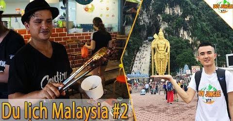Du lịch Malaysia Kuala Lumpur | Ngày 2 | Batu Caves, ăn vặt ở Jalan Alor | Duy Jungle