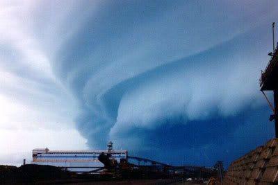 Hurricane clouds.