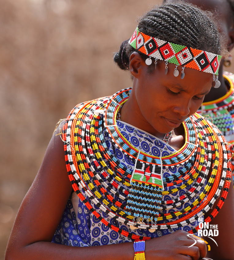 A shy but beautiful Samburu woman