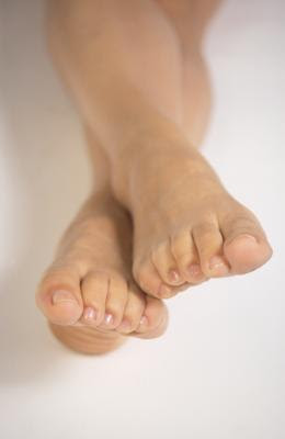 Cleaning and moisturizing the feet keep them soft and supple.