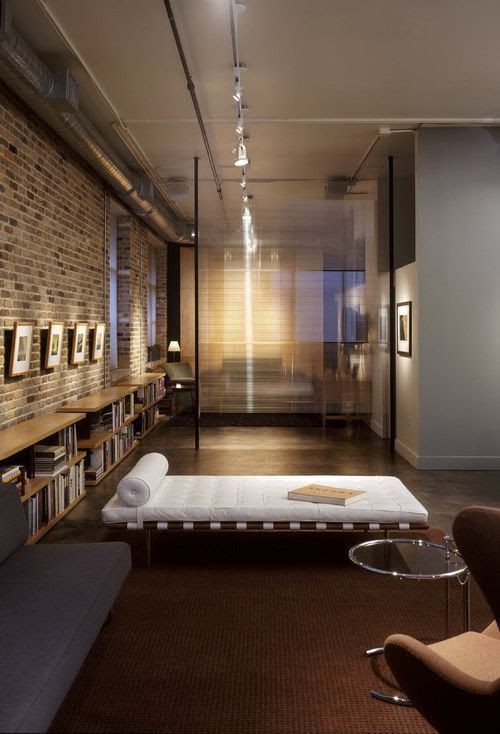 downtown loft // Mies van der Rohe Barcelona daybed