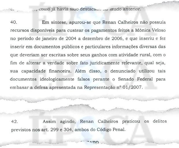 Defesa com documentos falsos (Foto: Reprodução)