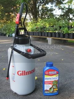 Large Sprayer and Fungicide