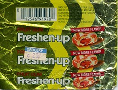 Fruit Freshen-up gum wrapper