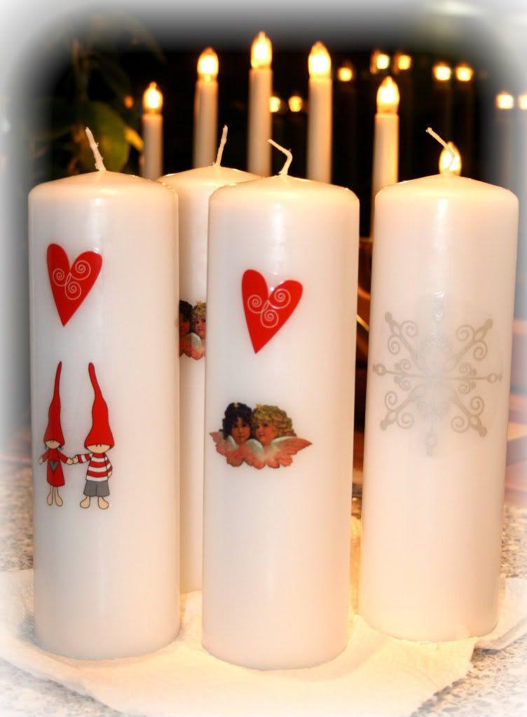 Kalyani dekorerer lys som julegaver...