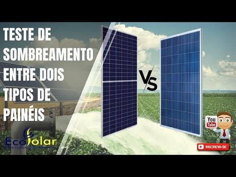 Teste de Sombreamento entre dois tipos de Painéis Solares