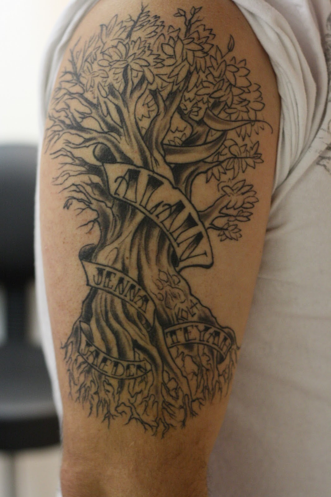 Right Half Sleeve Tree Tattoo Ideas