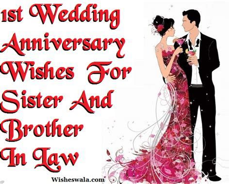 1st Wedding Anniversary Wishes Messages For Sister And