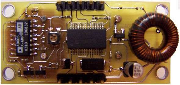 I2C-Sonar-Phạm vi-Finder-AD605-Microchip-PIC16F876-vi điều khiển