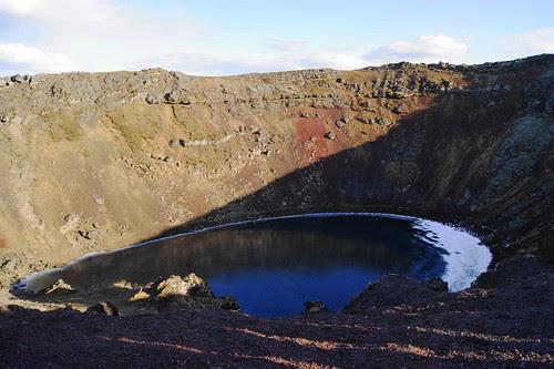 Kerið volcanic crater lake, Iceland