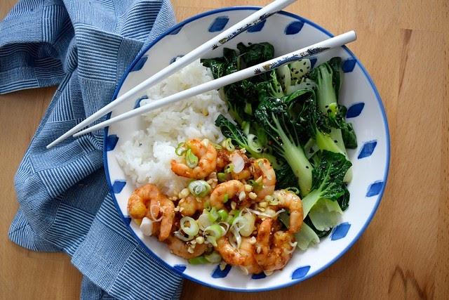 rachel phipps recipe korean prawn rice bowl with sesame. Black Bedroom Furniture Sets. Home Design Ideas