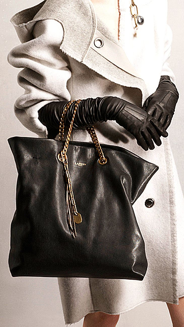 Lanvin Pre-Fall 2014 handbag and gloves http://www.vogue.com/fashion-week/