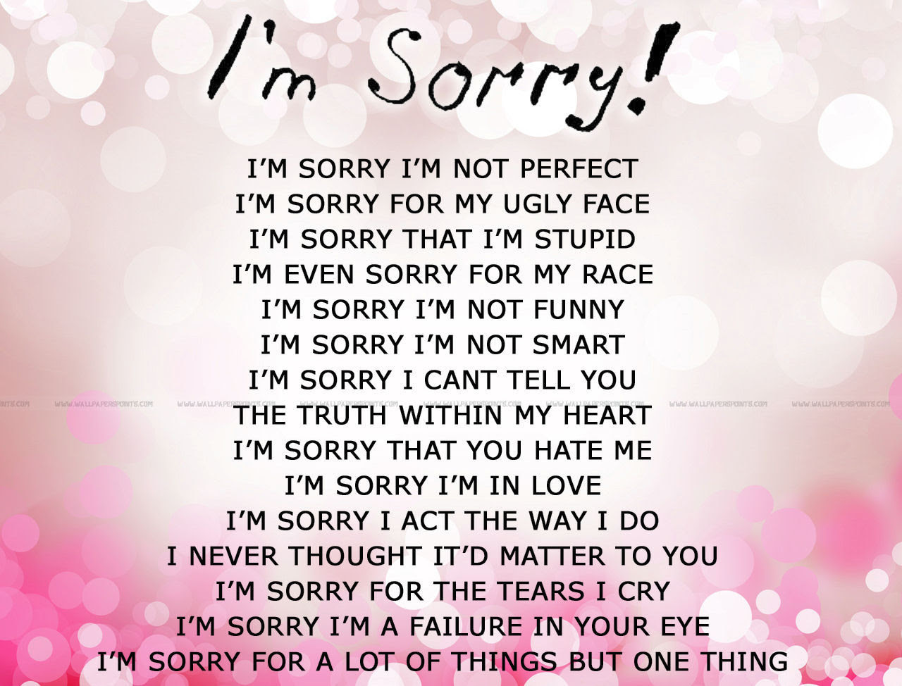 Quotes About Sorry And Love 88 Quotes