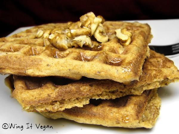 Cinnamon-Pecan Waffles