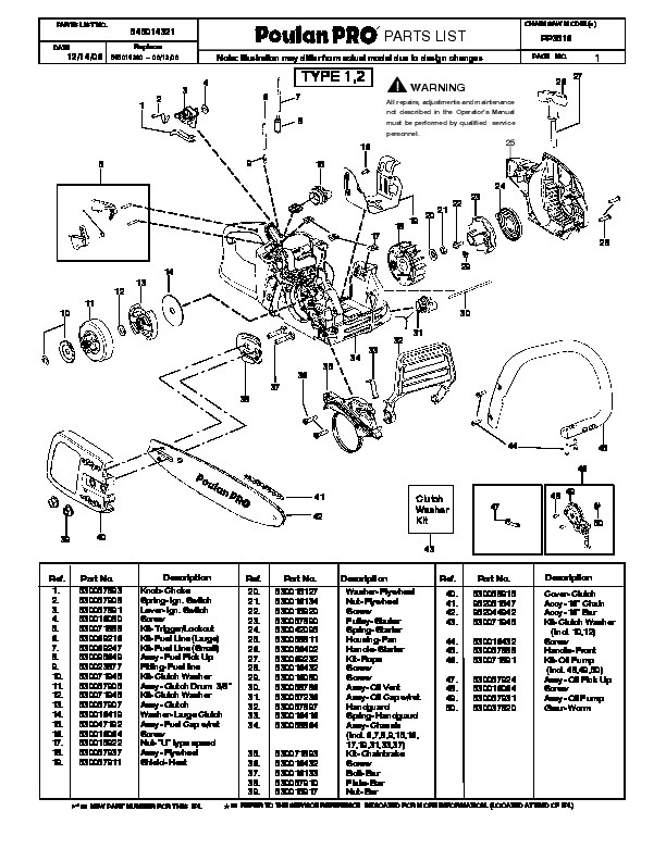 32 Poulan Pro Chainsaw Parts Diagram Pp4218avx