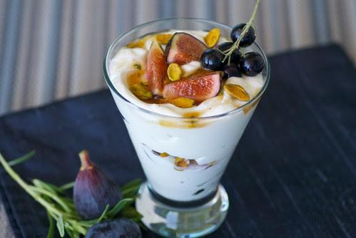 Greek Yogurt, Fig, and Black Currant Parfaits