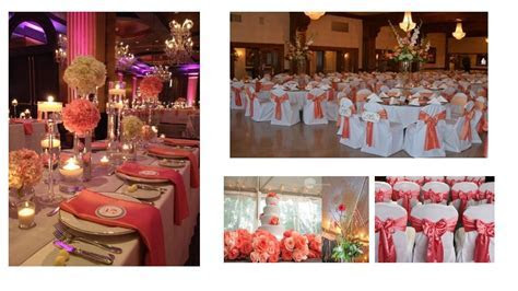 Unique Wedding Reception Ideas   CORAL  COLOR IDEAS