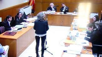 Ester Quintana, durant la seva declaració davant el tribunal