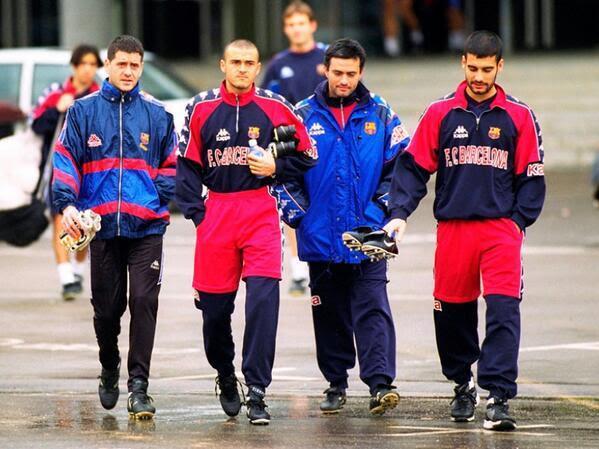 Busquets Luis Enrique Mourinho y Guardiola