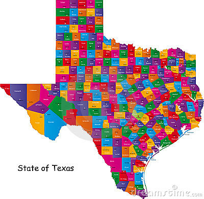 State Of Texas Stock Image Image 10748021