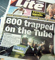 London Lite cover Central Line Derailment