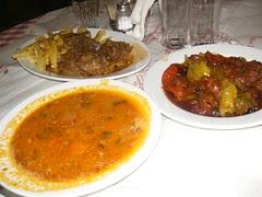 spetsofai wild boar stew and fasolada at pelion
