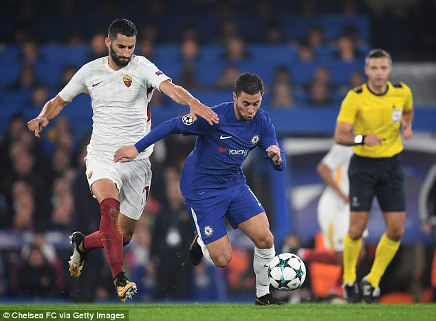 Chelsea's Eden Hazard will hope to power them to top spot at Roma's expense this week