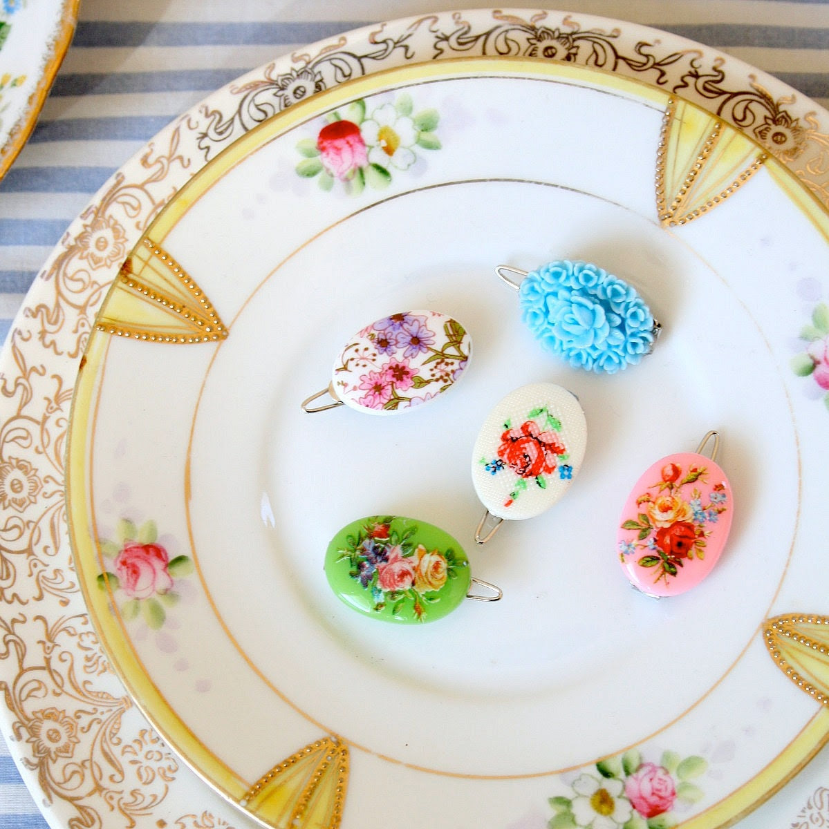 Sweet Cameo Barrettes - Choose Any Two