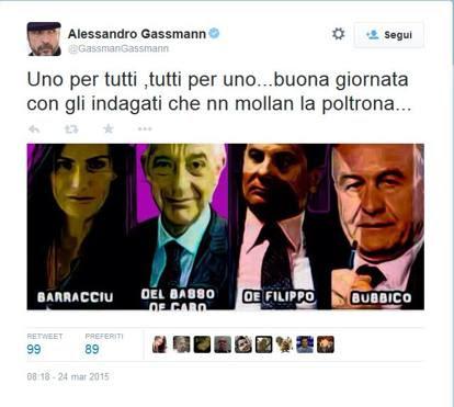 Lite a colpi di tweet tra Gassmann e la sottosegretaria Barracciu