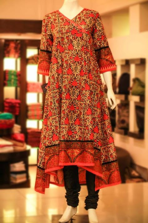 Casual-Lawn-Womens-Girls-Kurta-Kurti-Collection-2013-by-Thredz-for-Ladies-14