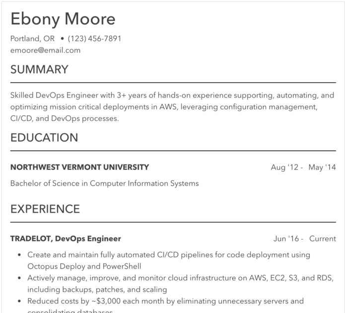 sample resume for job  example of resume to apply job