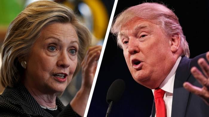 EU: Últimas encuestas reflejanventaja 3 a 4 puntos de Clinton sobre Trump