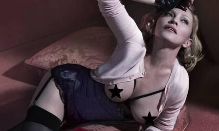 "Madonna posa de topless para revista ""Interview"""
